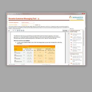 Novartis Sales Tool UI/UX