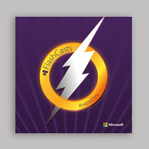 Visual Studio #herodev Superhero Cape and Graphics