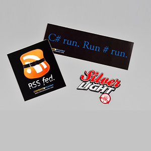Stickers, Shirts and other Promo items